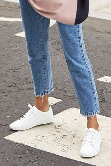 Womens Leather Trainers   Casual
