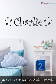 Personalised Star Wall Sticker by Loveabode
