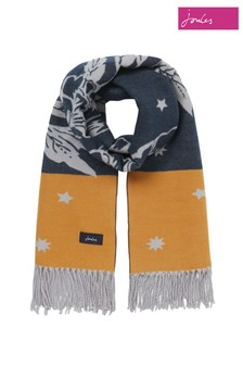 Joules Yellow Elissa Jacquard Scarf