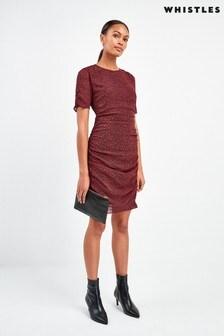 Whistles Mini Ikat Animal Silk Bodycon Dress