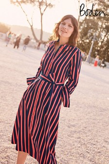 Boden Navy Isodora Midi Shirt Dress
