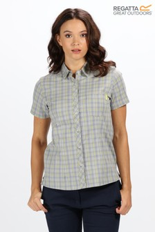 Regatta Grey Womens Honshu III Short Sleeve Shirt