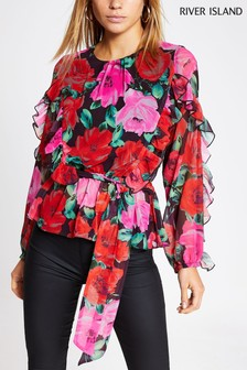 River Island Black Truffle Blouse