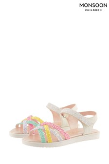 Monsoon Glitter Rainbow Sandals