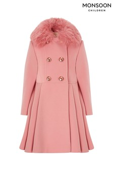 Monsoon Children Pink Maisie Coat