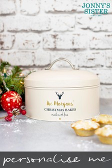 Personalised Christmas Cake Tin by Jonnys Sister