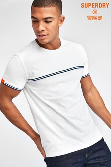Superdry White Rib T-Shirt