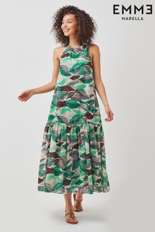 Emme by Marella Green Print Cotton Dress