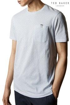 Ted Baker Instent T-Shirt mitgeometrischem Muster