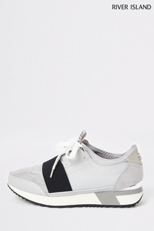 River Island Grey Echo Trainers