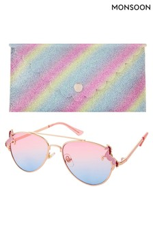 Elle Unicorn Aviator Sunglasses & Case Set