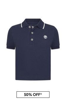Timberland Baby Navy Cotton Polo Shirt