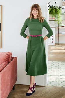 Boden Green Violet Ottoman Dress
