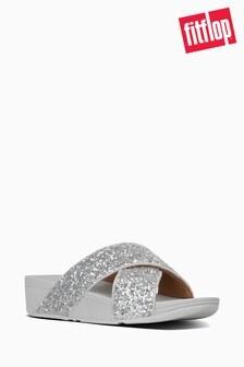 FitFlop™ Silver Lulu Glitter Slides