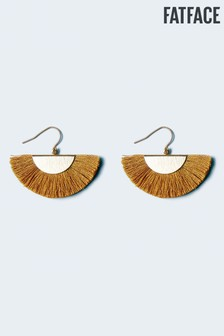 FatFace Yellow Tassel Fan Earrings