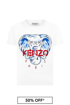 Kenzo Kids Boys Cream Cotton T-Shirt