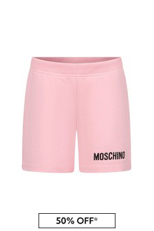 Baby Girls Pink Cotton Shorts