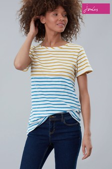 Joules Cream Nessa Stripe Lightweight Jersey T-Shirt