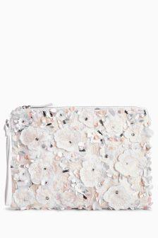 Floral Embellished Clutch