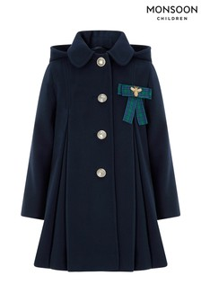 Monsoon Children Navy Gwen Coat