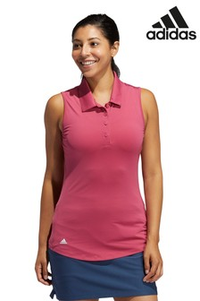 adidas Pink Golf Ultimate 365 Sleeveless Poloshirt