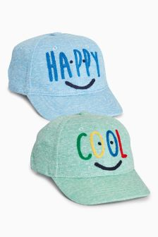 Slogan Caps Two Pack (Younger)