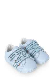 Baby Boys Blue Logo Pre-Walker Shoes