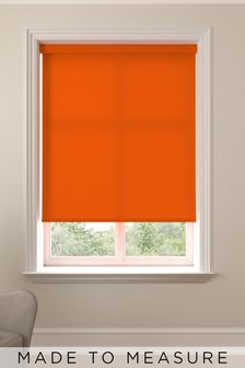 Asher Tangerine Orange Made To Measure Light Filtering Roller Blind