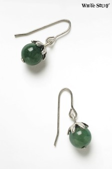 White Stuff Green Blueberry Stone Drop Earrings