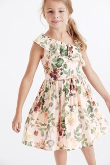 Floral One Shoulder Prom Dress (3-16yrs)