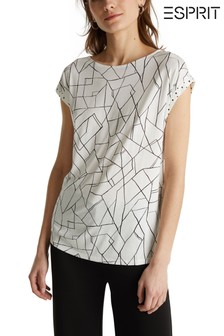 Esprit Natural Sleeve Detail Elegant Top