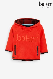 baker by Ted Baker Orange Logo Hoody