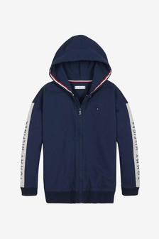 Tommy Hilfiger Girls Longline Full Zip Hoody