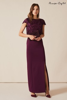 Phase Eight Purple Olivia Scuba Maxi Dress