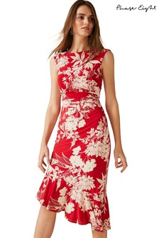 Phase Eight Red Raelynn Printed Dress