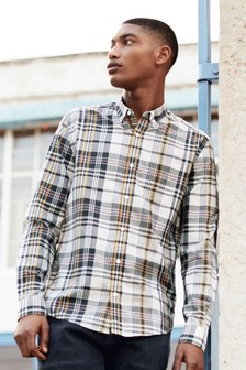 Madras Check Regular Fit Long Sleeve Shirt
