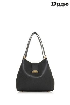Dune London Black Synthetic Demii Large Handle Grab Bag