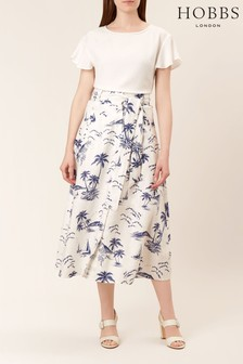 Hobbs Cream Floretta Skirt
