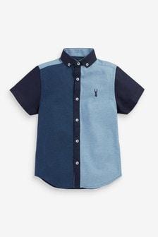 Tonal Colourblock Short Sleeve Shirt (3-16yrs)