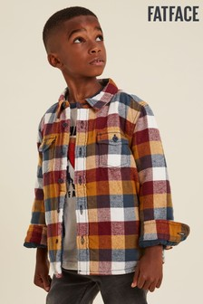 FatFace Brown Buffalo Check Shacket Shirt