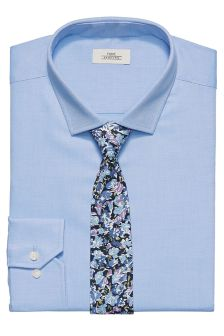 Shirt With Floral Tie Set