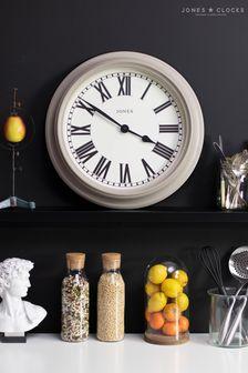 Jones Clocks Opera Powder Grey Wall Clock