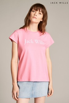 Jack Wills Forstal Boyfriend-T-Shirt, rosa