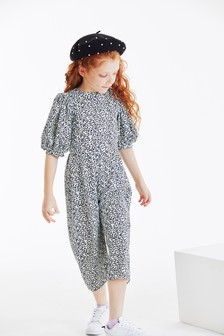 Puff Sleeve Jumpsuit (3-16yrs)