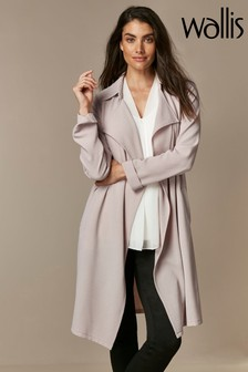 Wallis Grey Waterfall Duster Jacket