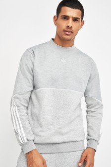 Sivá mikina adidas Originals Outline