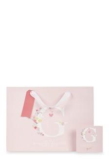 Baby Girl Monogram Bag, Card And Tissue Set