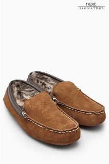 Signature Contrast Stitch Perforated Moccasin (Mens)