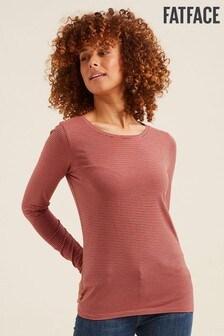 FatFace Pink Hollie Stripe Crew T-Shirt