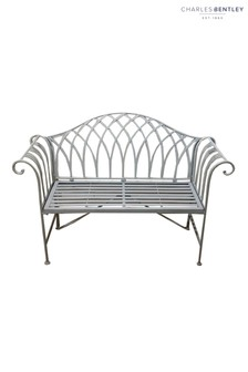 Wrought Iron Garden Bench by Charles Bentley